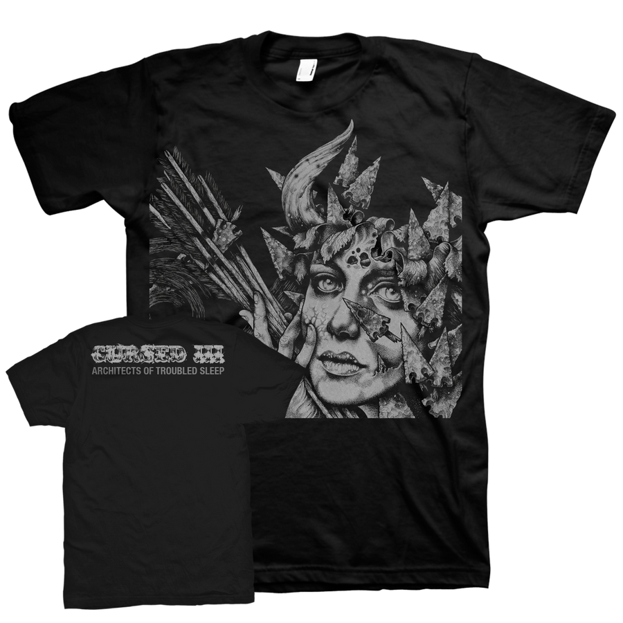 "CURSED ""Architects Of Troubled Sleep"" Black T-Shirt"