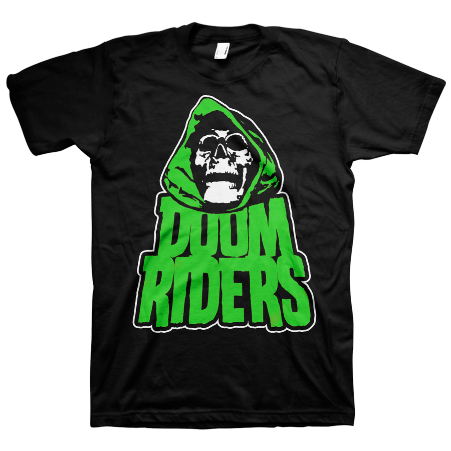 "DOOMRIDERS ""Green Reaper"" Black T-Shirt"