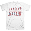 "MODERN LIFE IS WAR ""Evolution Vol.2 Red & Blue"" White T-Shirt"