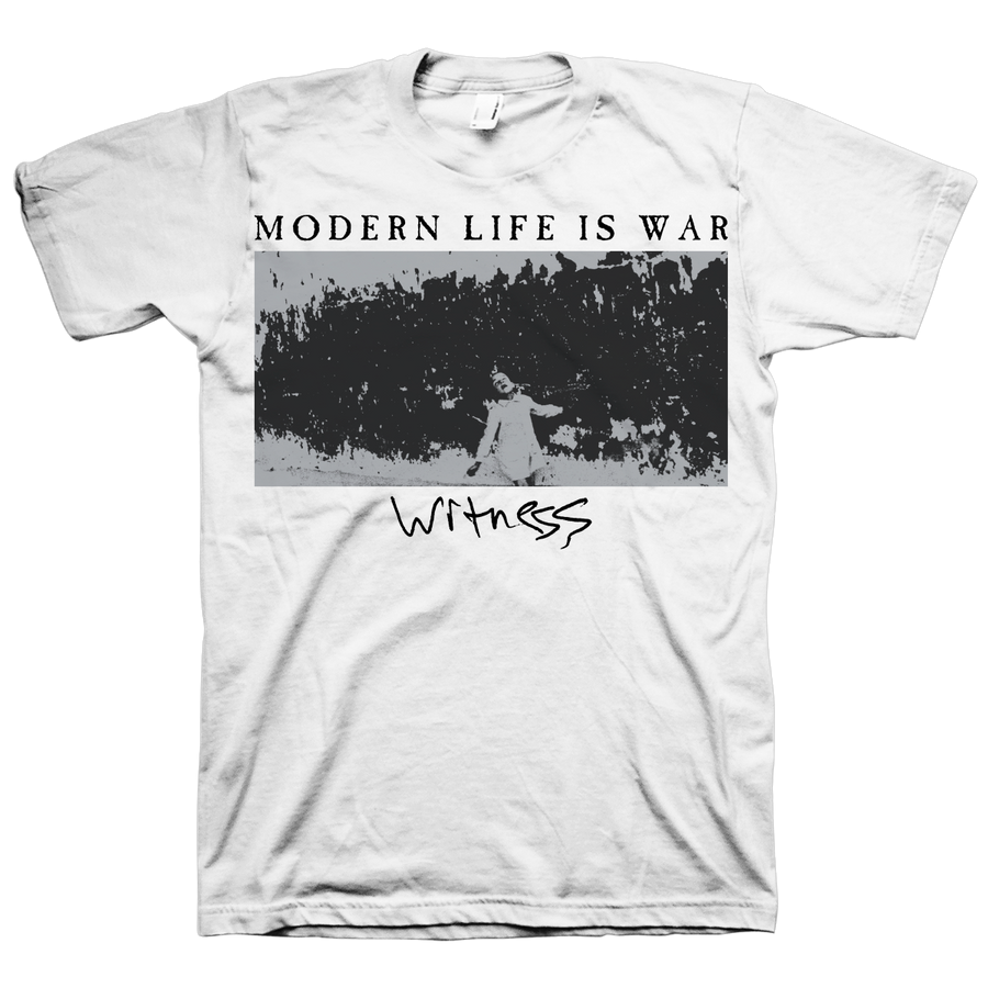 "MODERN LIFE IS WAR ""Child"" White T-Shirt"