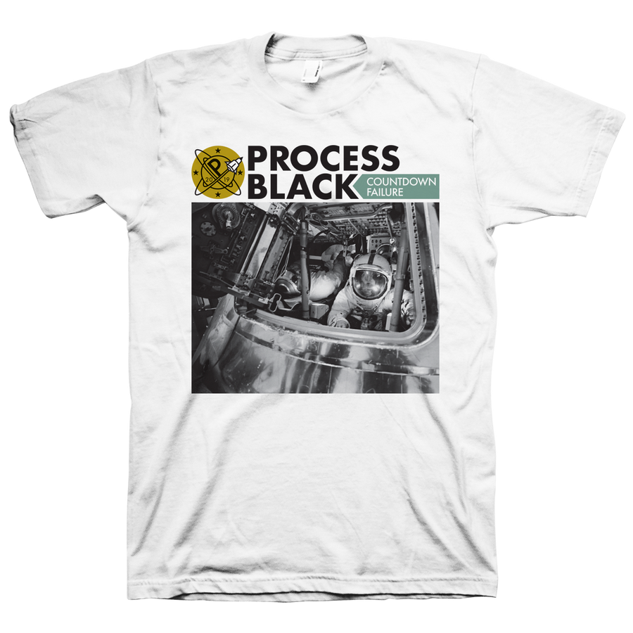 "PROCESS BLACK ""Countdown Failure"" White T-Shirt"