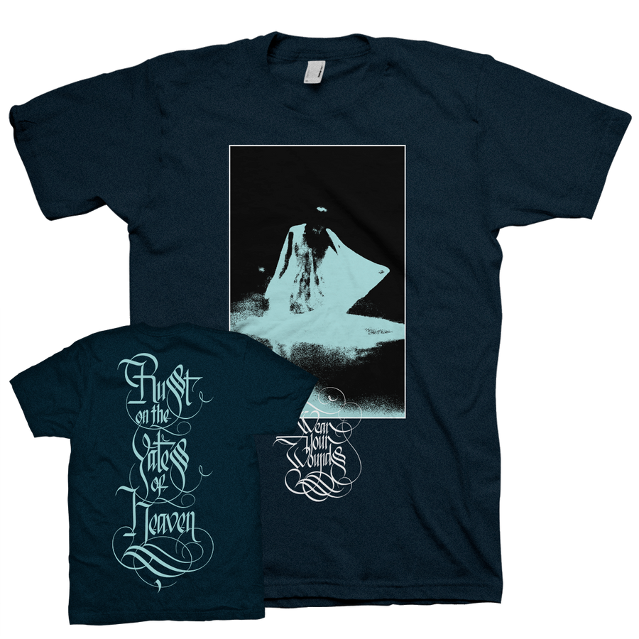 "WEAR YOUR WOUNDS ""Apparition"" Navy Blue T-Shirt"