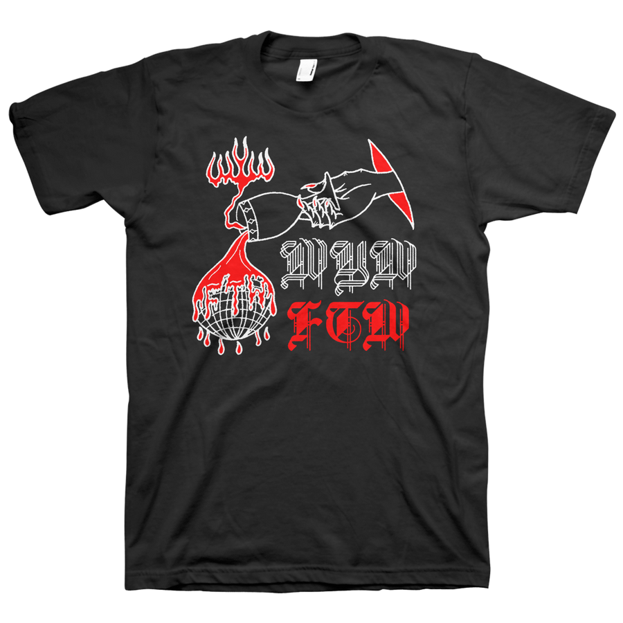 "WEAR YOUR WOUNDS ""FTW"" Black T-Shirt"