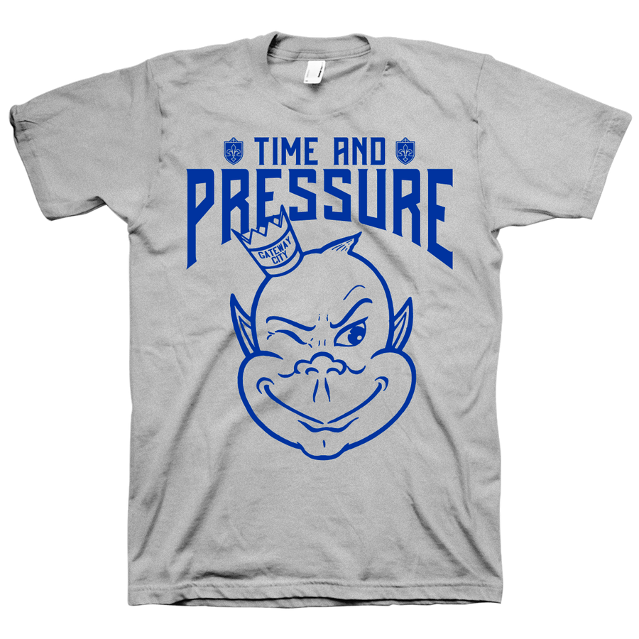 "TIME AND PRESSURE ""Logo"" Grey T-Shirt"
