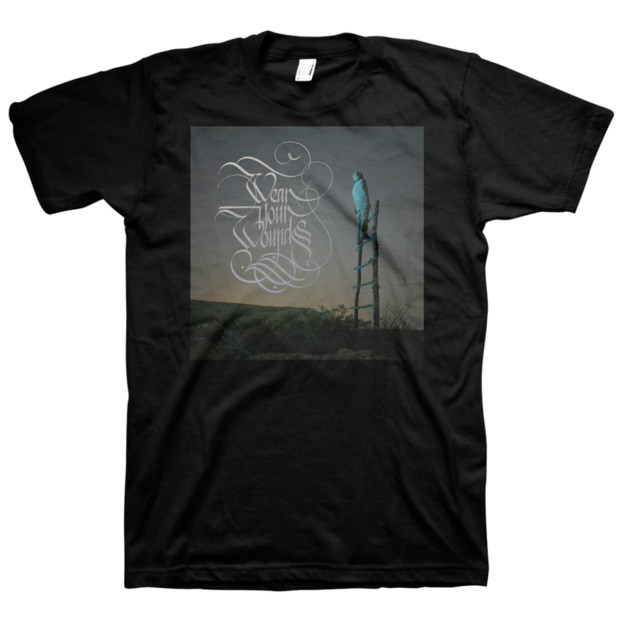 "WEAR YOUR WOUNDS ""Cover"" Black T-Shirt"