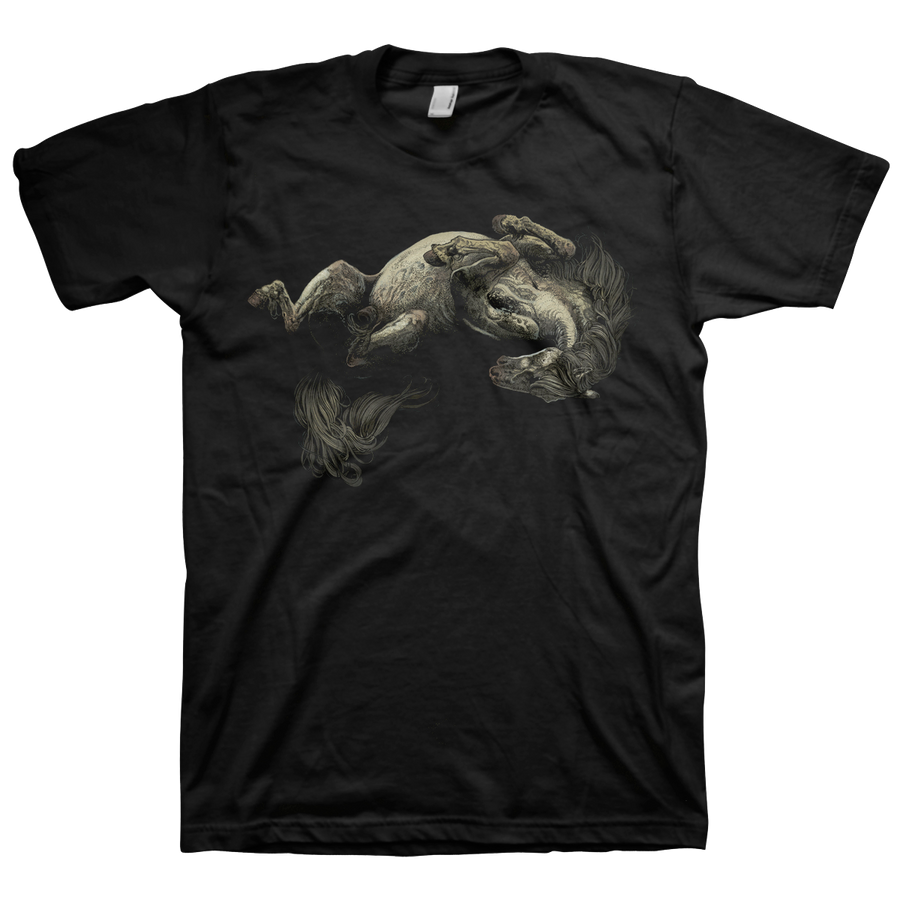 "RICHEY BECKETT ""White Pony"" Charcoal Black T-Shirt"