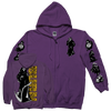 "BURN ""Reaper"" Purple Zip-Up Sweatshirt"