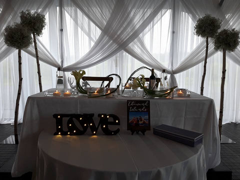 Mariage P & M - Love table
