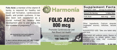 Folic Acid 800 mg for Cardiovascular Health and Protein Synthesis