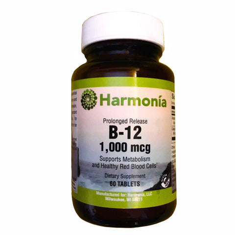 Vitamin B-12 1,000 mcg, Prolonged Release and Metabolism Support