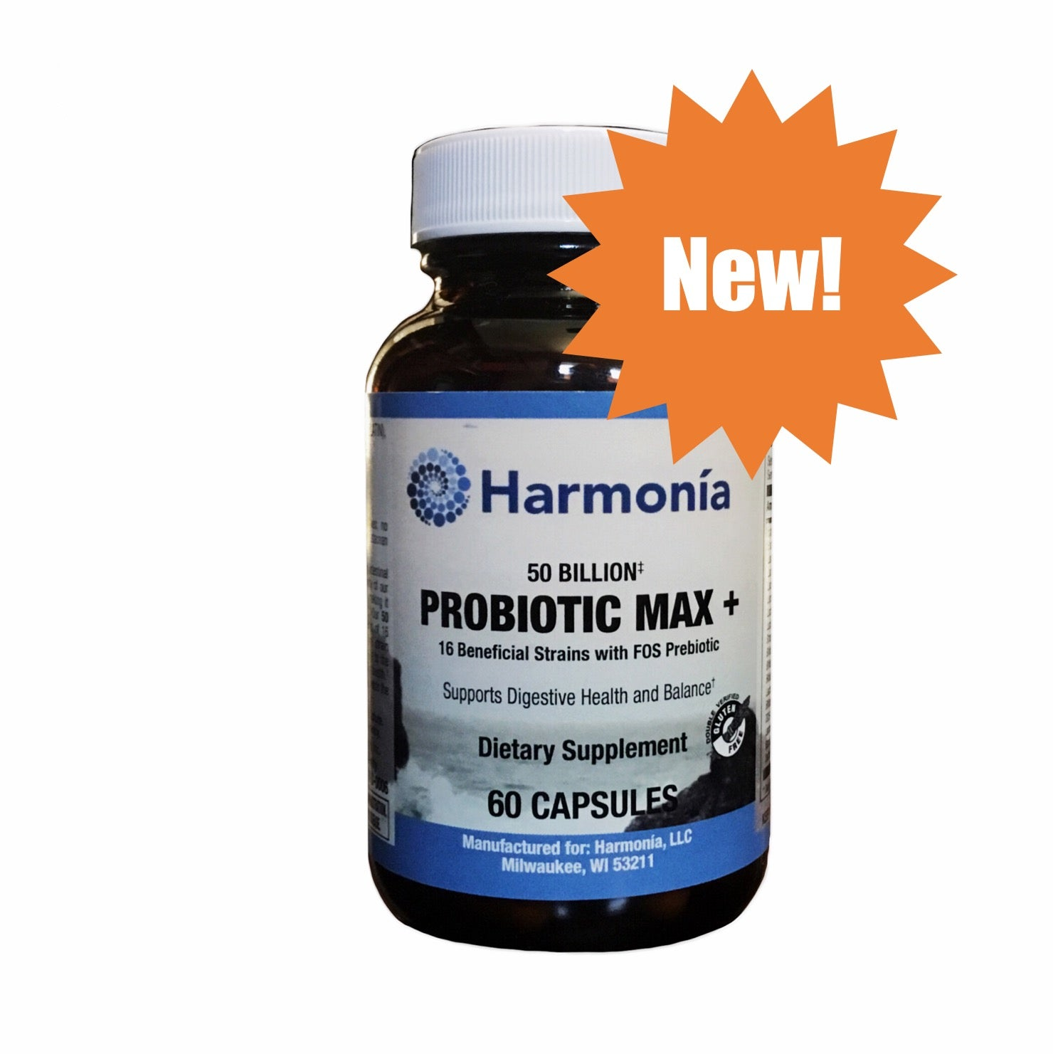 Probiotic Max + 50 Billion CFUs/g for Maximum Digestion and Immunity