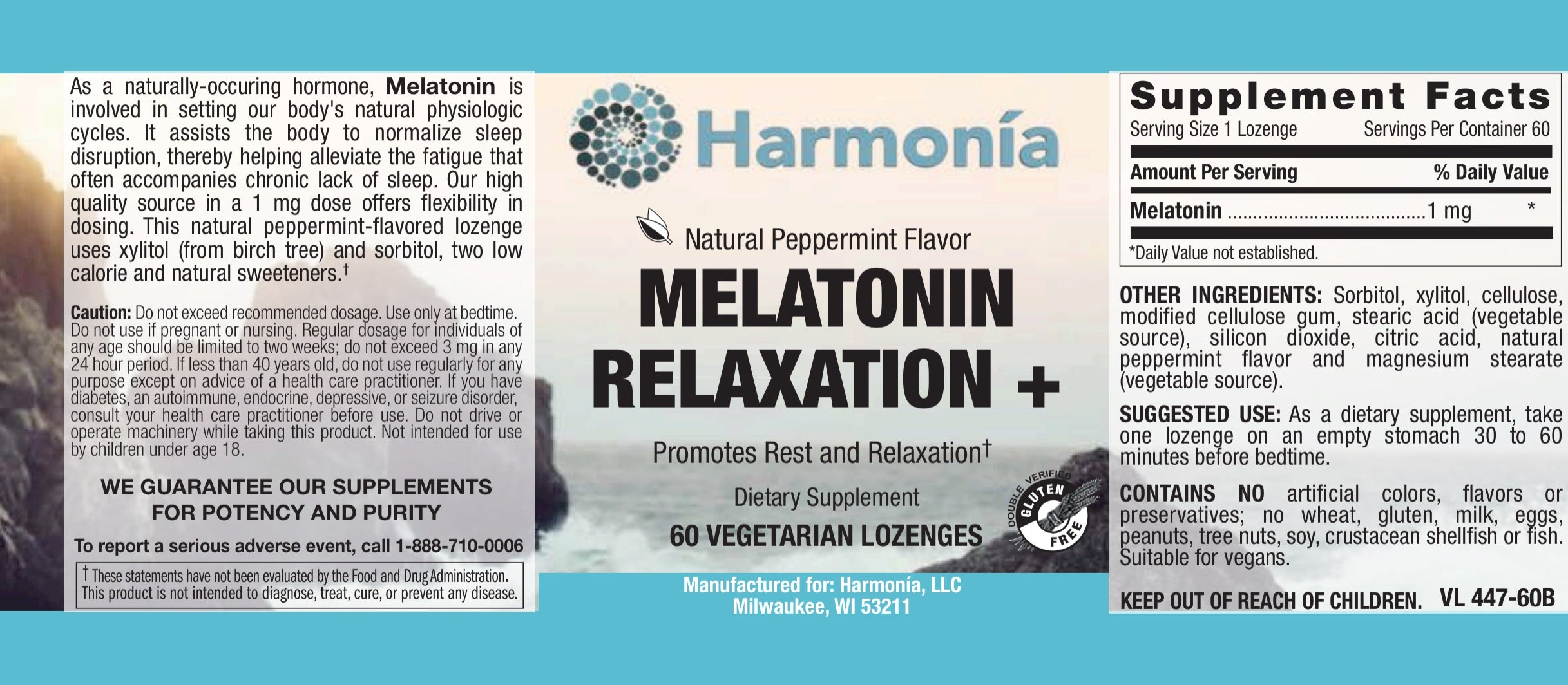 Chewable Melatonin Relaxation + 1 mg for Customized Sleep and Relaxation