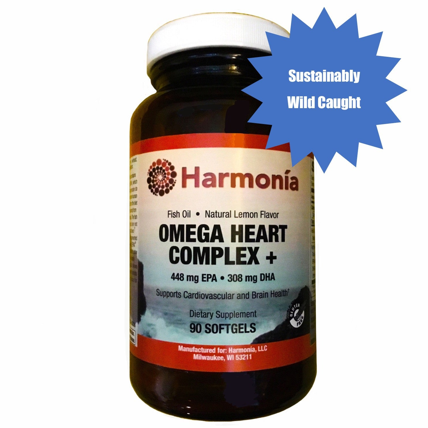 Omega Heart Complex +, Cardiovascular Health with Wild Caught Fish Oils