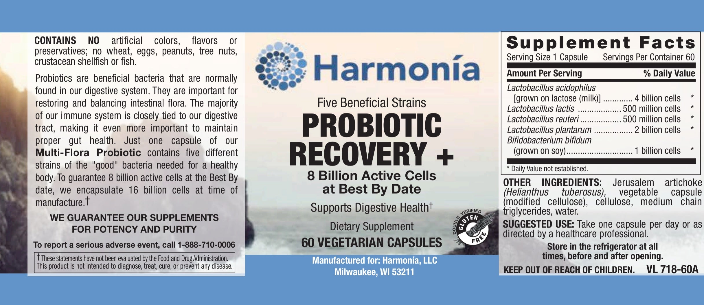 Probiotic Recovery + for Better Digestion and Immunity