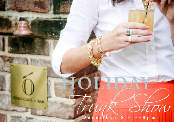 TASSEL TALK: Zero George Holiday Trunk Show