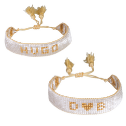 Custom White & Gold Bracelet