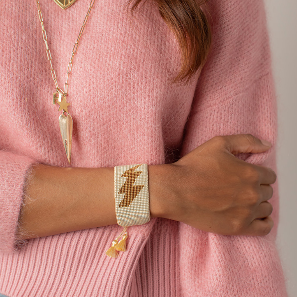 Lightning Bolt Beaded Bracelet