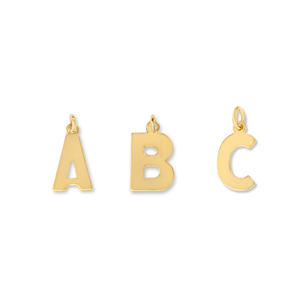 Letters A-Z Charms