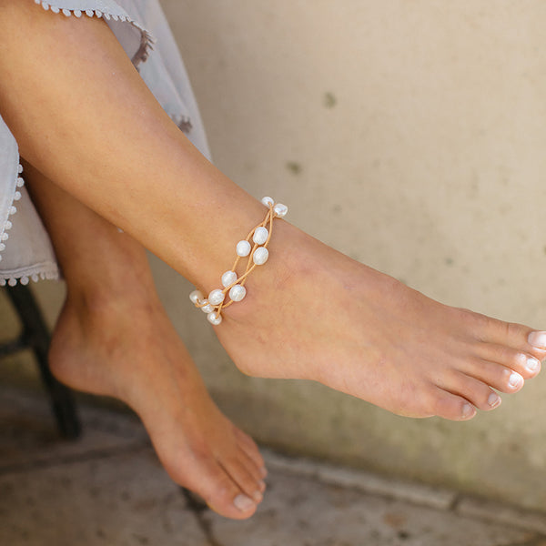 Hart Cloud Trio Anklet - Natural