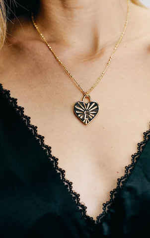 I Love your Brain / Heart Locket Necklace