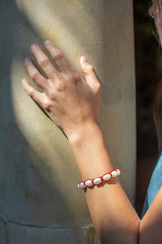 Big Cloud Bracelet - Red