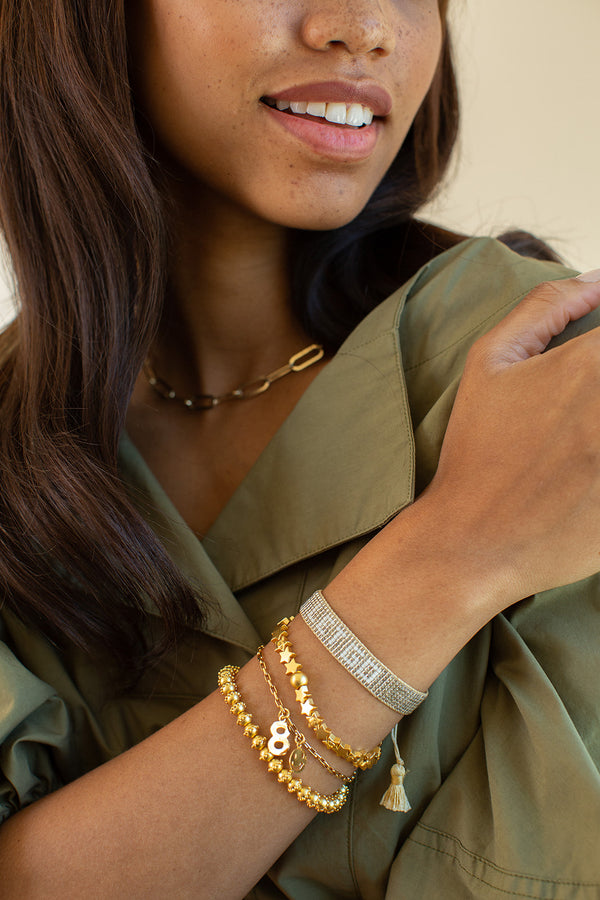 Gold Let Go Beaded Bracelet