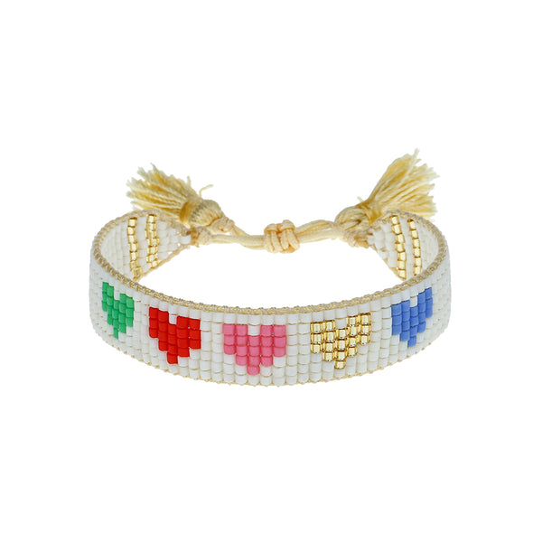 Kids' Rainbow Hearts Bracelet