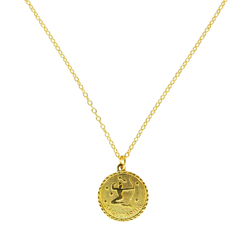 Sagittarius Zodiac Coin Necklace (Nov. 22 - Dec. 21)
