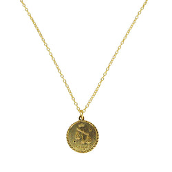 Libra Zodiac Coin Necklace (Sep. 23 - Oct. 22)