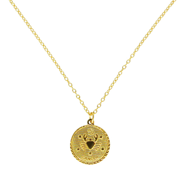 Cancer Zodiac Coin Necklace (Jun. 21 - Jul. 22)