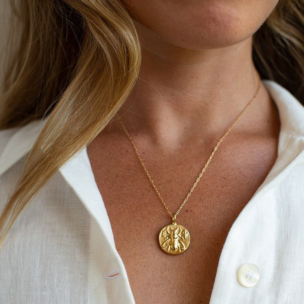 Ephesus Bee Lucky Coin Necklace