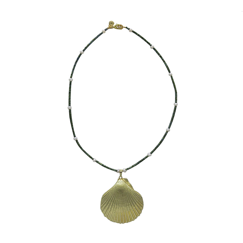Hart gold shell mermaid necklace