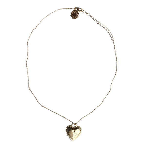 hart my love gold pendant necklace