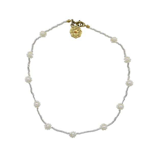 hart pearl daisy chain necklace