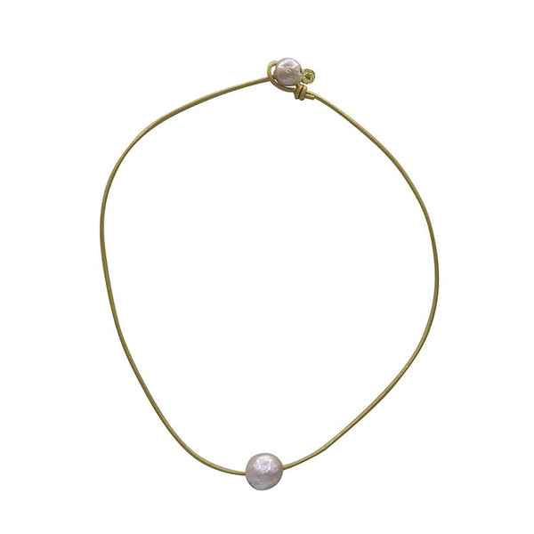 Hart Single Cloud Necklace - Gold