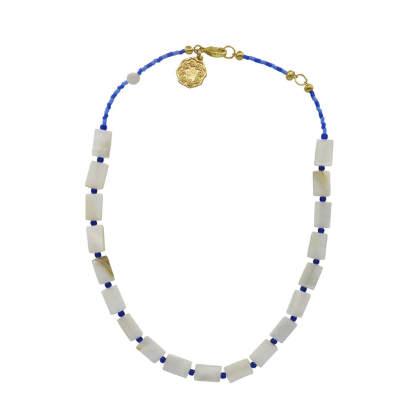 Hart Smile Necklace in Cobalt