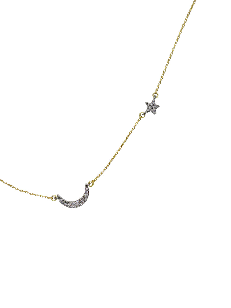 Star + Moon Necklace