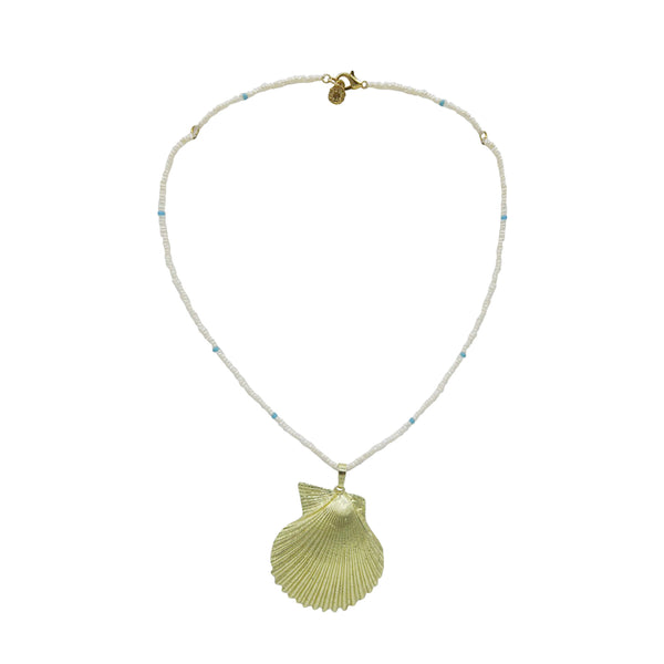 Hart Tiny Pearl and Shell Necklace