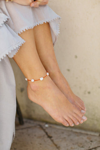 Little Cloud Anklet - Red
