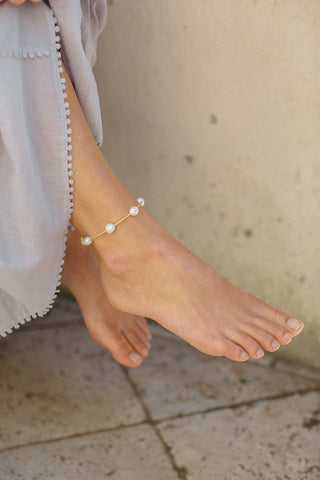 Little Cloud Anklet - Natural
