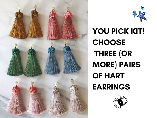 You Pick Kit! Choose three (or more) pairs of Hart Earrings