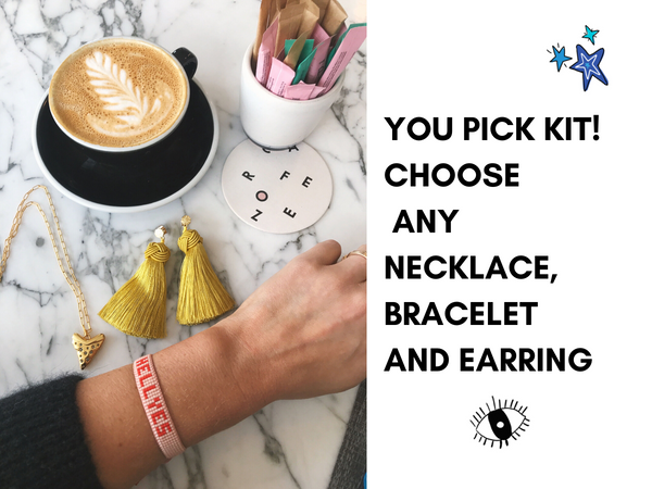 You Pick Kit! Choose any necklace, bracelet and earring
