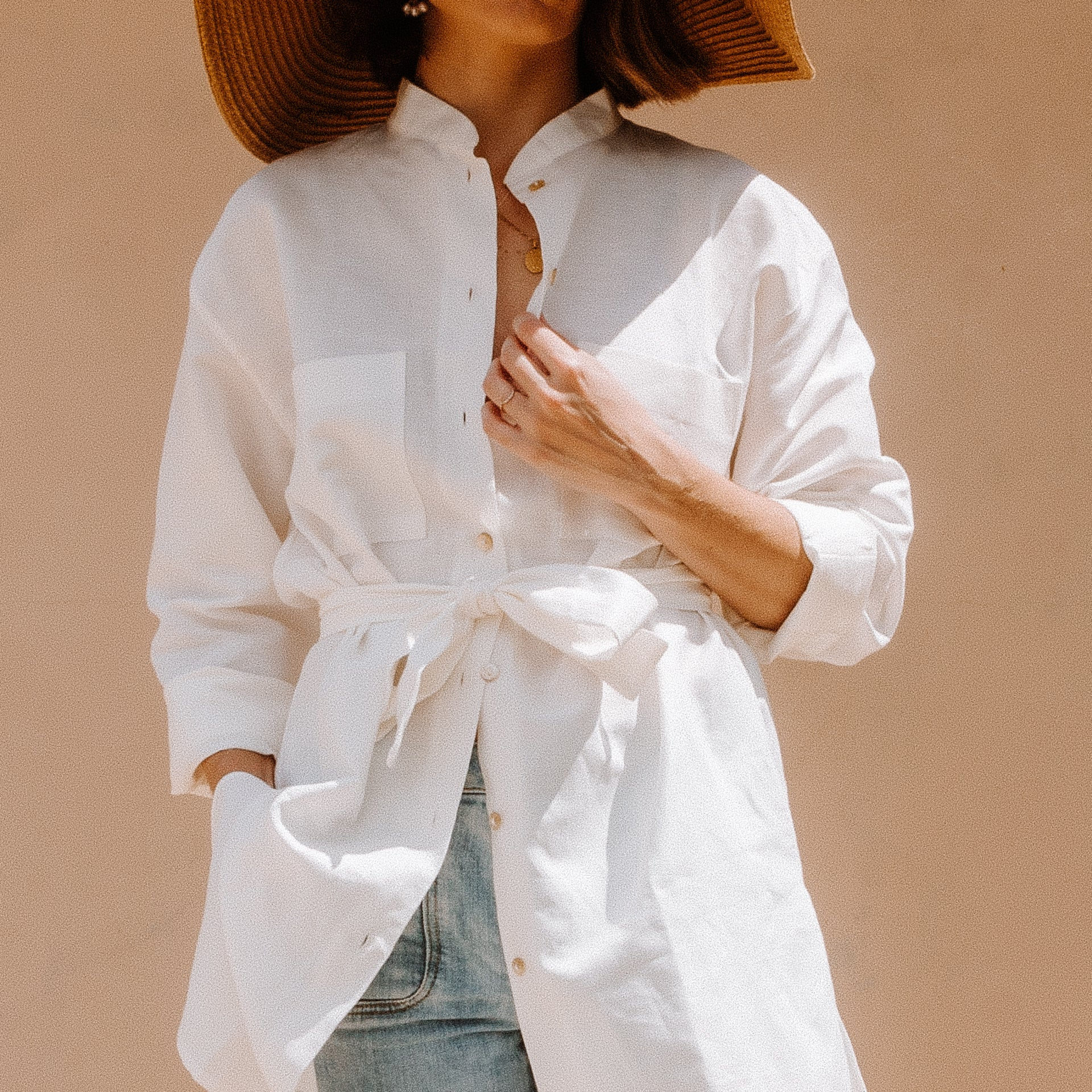 VINE long line shirt with side slits