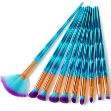 4 pcs Diamond Blue Make-up Brush Set