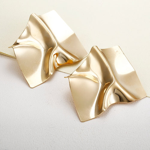 Luxury Gold Square Stud Earrings