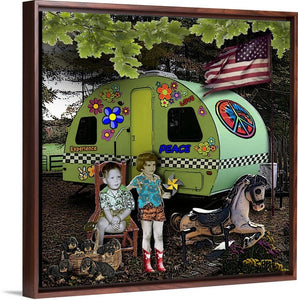Camper Kids by Steve Head (Digital Collage)