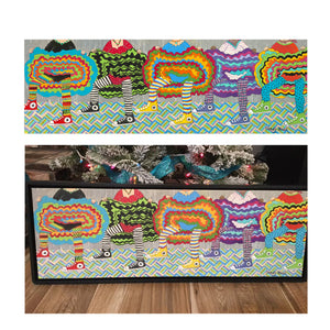 "Happy Dance by Cindy Head 12"" x 36"" Framed Giclee' Print on Canvas"