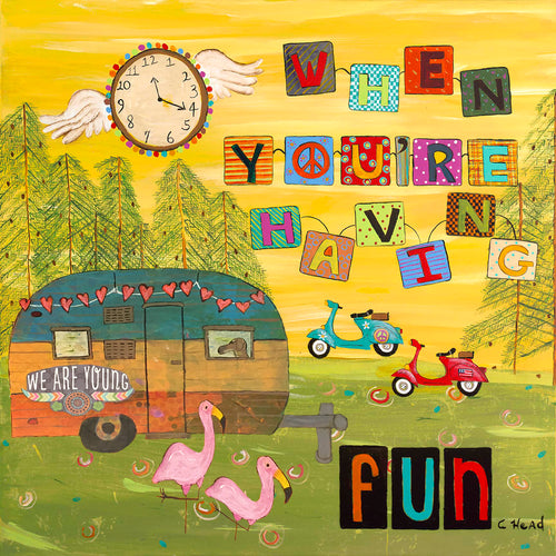 Time Flies by Cindy Head (RV & Camper Mount)