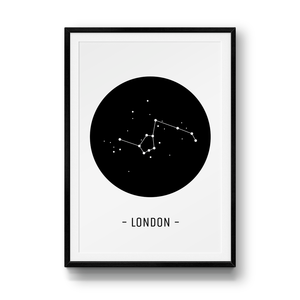 """London Constellation"", constelación de los monumentos de Londres."