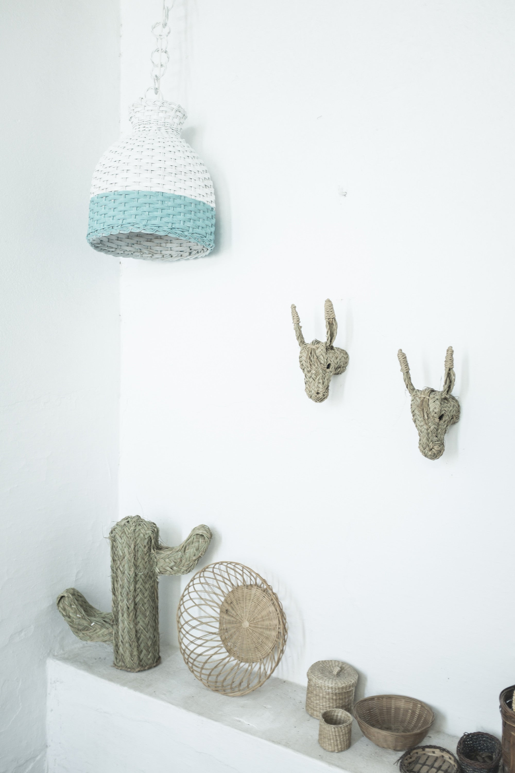 """Mini cactus"", cactus de esparto para decorar."